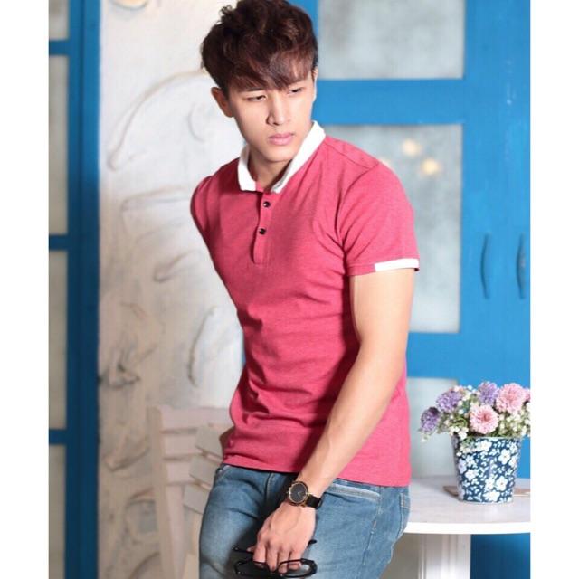 Áo thun nam cổ trụ Hàn Quốc thời trang - cá tính TR112