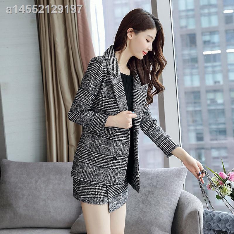 Set Áo Khoác Vest Và Chân Váy Len Phong Cách Công Chúa Xinh Xắn Cho Nữ