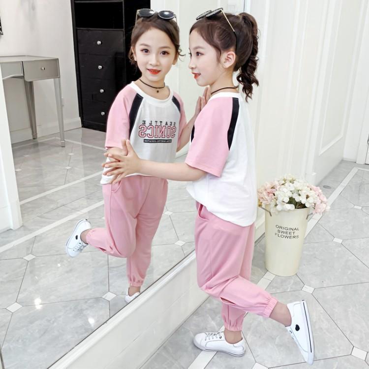 Set Áo Thun Ngắn Tay + Chân Váy Thời Trang Mẫu 2020 Theo Phong Cách Hàn Quốc Dành Cho Bé Gái