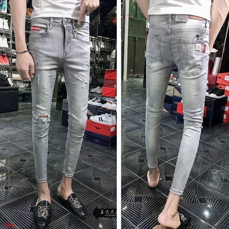 Quần Jeans Dài Dáng Ôm Thời Trang Cho Nam