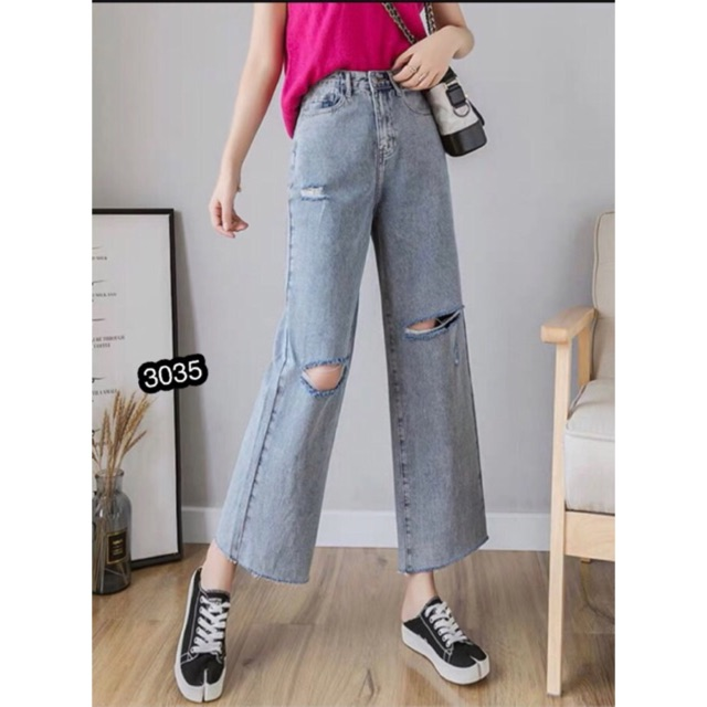 ⚡️Quần Jeans Ống Rộng HOT HIT - 3035