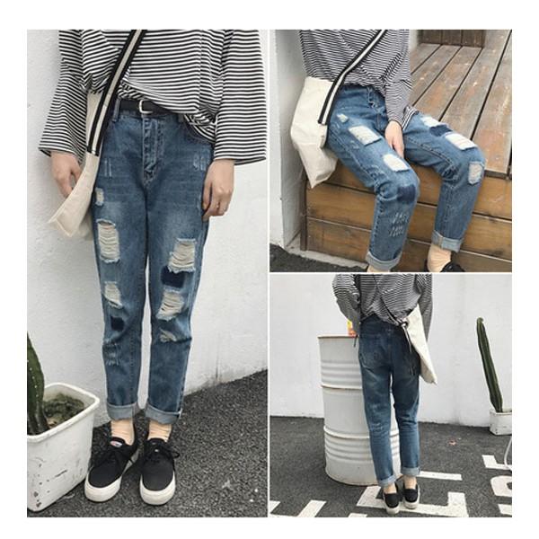 Quần Nữ, quần jeans nữ rách , MY1385