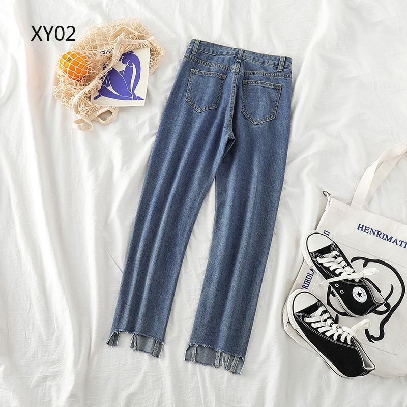 Quần jean lưng thấp kiểu dáng đơn giản