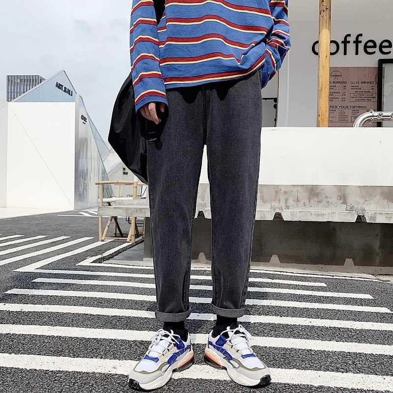 Quần jean dài 9 tấc dáng rộng ống đứng thời trang cho nam