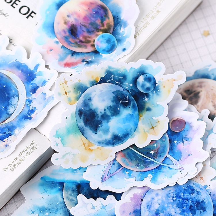 Blue Planet Diary Giấy và decal dán tường 15pcs/set Fashion Album Scrapbooks Mixed DIY Decor Stickers ML07449