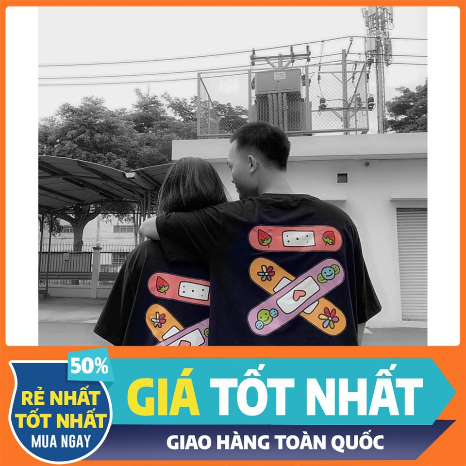 [SALE OFF 50%] Áo Thun Tay Lỡ BANDAGE TEE Unisex , áo thun tay lỡ, quần kaki