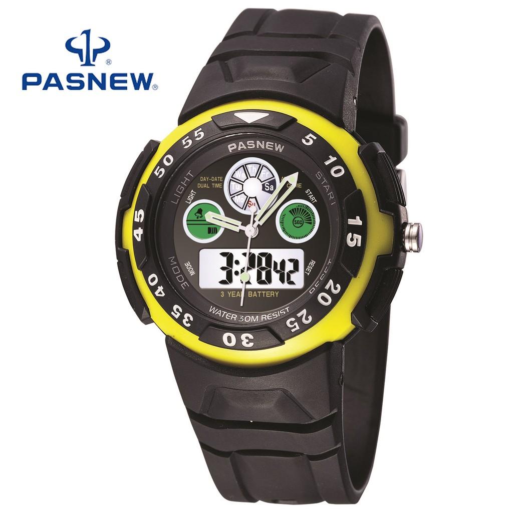 Đồng hồ unisex Pasnew 245 Đen Vàng