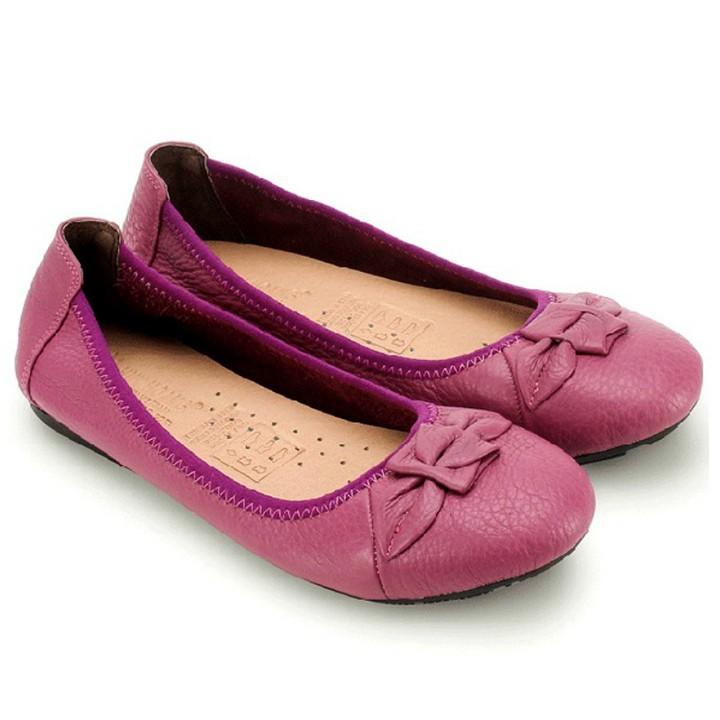 Giày nữ búp bê Huy Hoàng da bò màu tím-HP7911