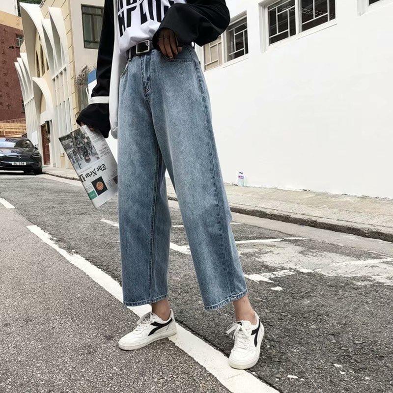 Quần Jeans Dài Ống Rộng Phong Cách Retro Thời Trang Cho Nam