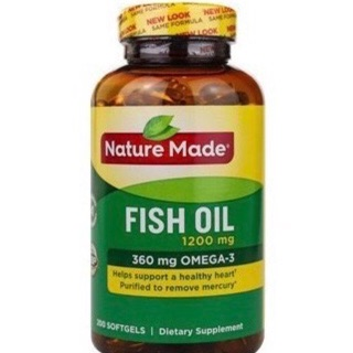 Fish oil 1200mg Nature Made chai 200 Viên HSD