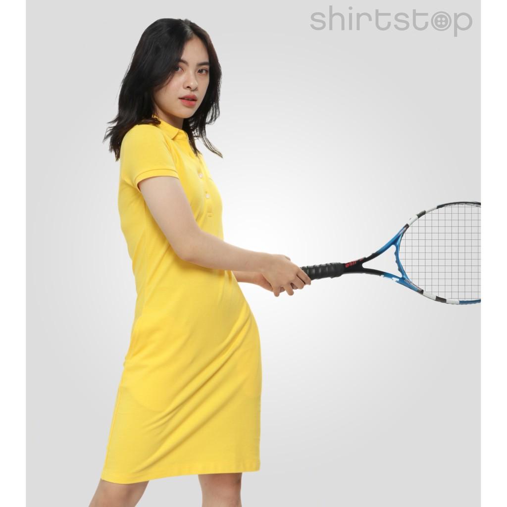 5541055619 - Áo đầm thun nữ Shirtstop có cổ - KHÁNG KHUẨN 100%- bảo vệ sức khỏe, chất liệu cotton mềm mại, thoáng mát - nhiều màu sắc