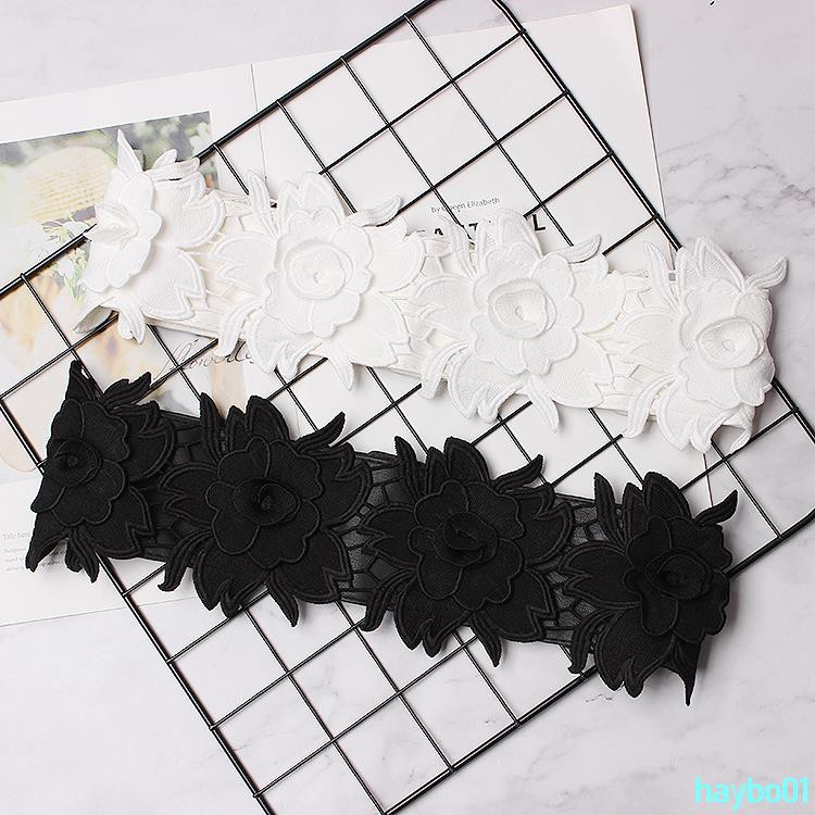 Order full 199 shipping skirt belt female wide decorative waist with skirt tendon belt fashion wild black lace elhaybo01