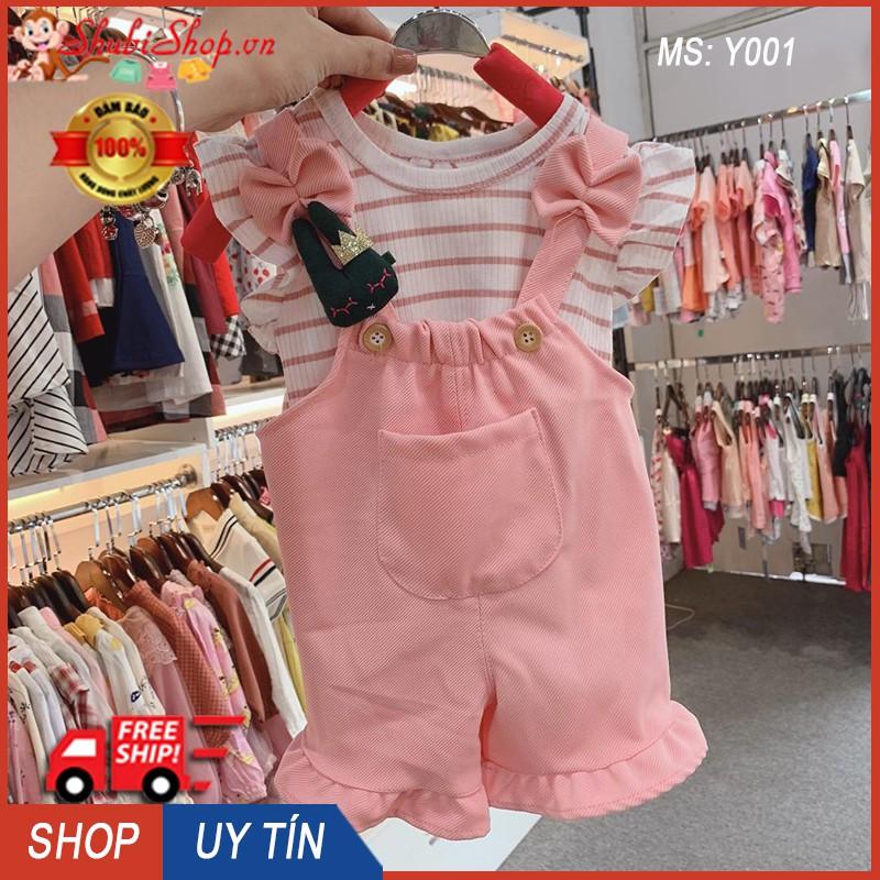 Yếm đùi hàn quốc bé gái 6-16kg - Có ảnh thật - Yếm quần, yếm cho bé - Shubishop.vn
