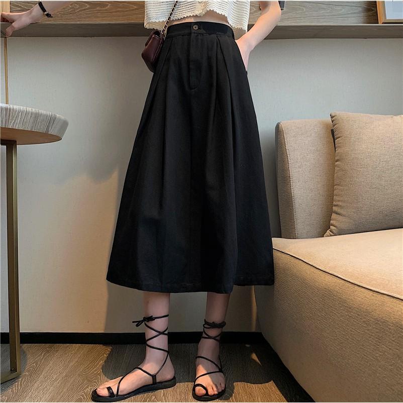 Chân Váy Dài Lưng Cao Màu Tím Thời Trang Mùa Hè 2020 Cho Nữ