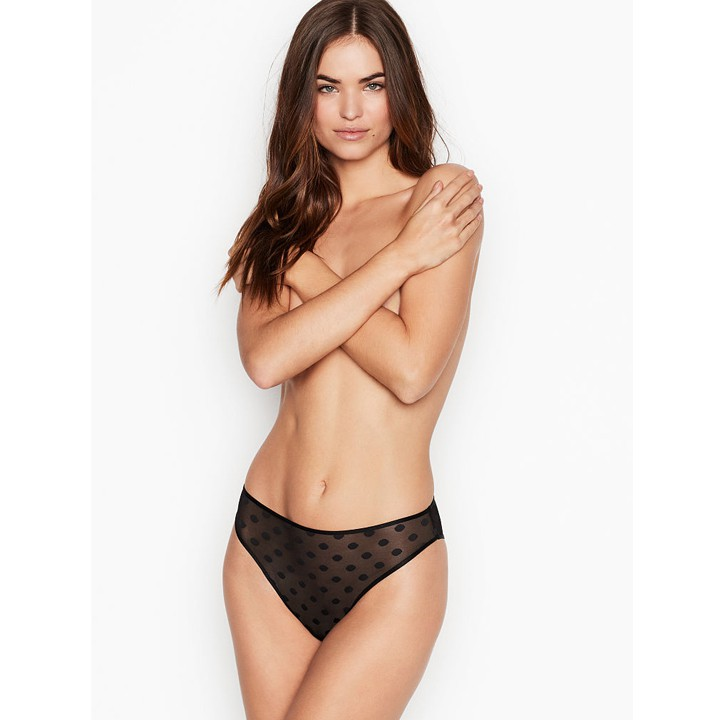 Quần lót Victoria's Secret High-Leg Cheeky - Black, size XS
