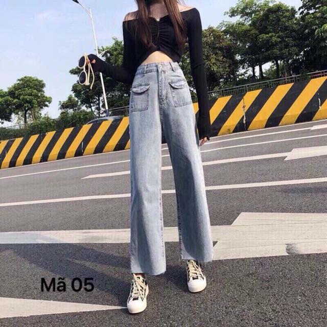 Quần Jeans ống rộng culottes