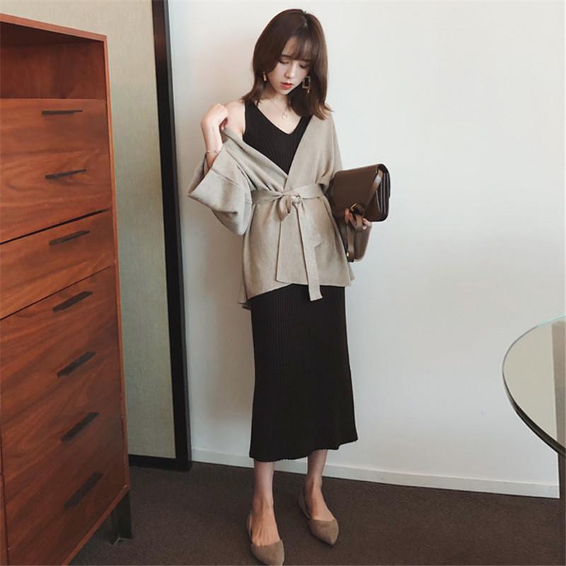 Chân Váy Dệt Kim Dáng Dài Phong Cách Hàn Quốc Thời Trang Xuân Thu