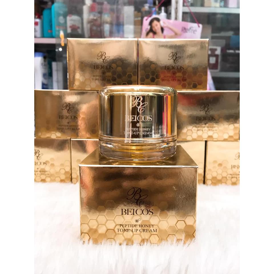 Kem Dưỡng Kích Trắng Beicos Peptide Honey Tone up Cream Hàn Quốc