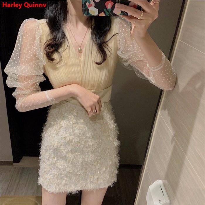 Set Áo Thun Ngắn Tay + Chân Váy Ngắn Xinh Xắn Thời Trang Dành Cho Nữ