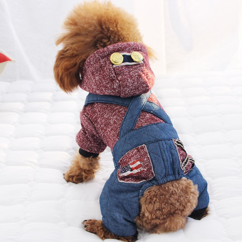 Pet dog teddy clothes qiu dong outfit law puppy small dogs cats (4 feet more to keep warm package mail