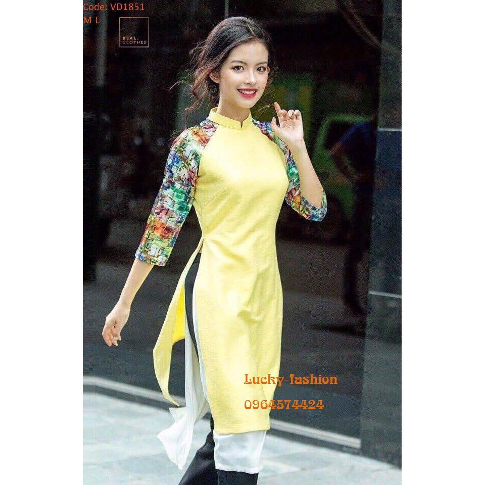 áo dài cách tân mẫu mới 2018