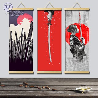 Hình ảnh SJMW HD Canvas Painting Wall Art Poster Japanese Style Home Decor Hanging Picture for Living Room Bedroom