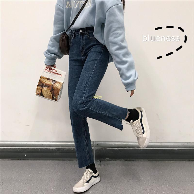 Quần Jeans Nữ Xẻ Ống Thời Trang Cá Tính