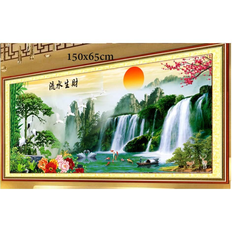 [SALESỐC] Tranh thêu phong cảnh F0718 150
