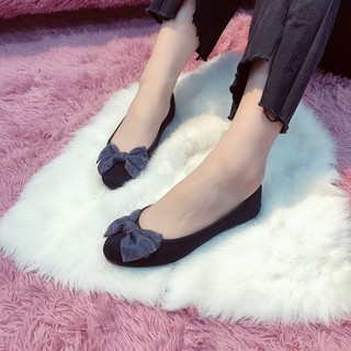 Giày búp bê đính nơ 🎀 xinh xắn chất liệu vải mềm kiểu dáng trẻ trung phong cách hàn quốc