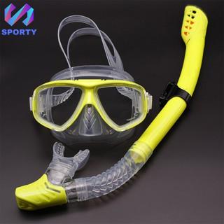 Bộ kính lặn Ống thở, mắt kiếng lặn bằng kính cường lực, ống thở ngăn nước cao cấp SPORTY