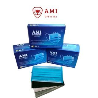 Khẩu trang y tế Ami eco mask 4 lớp kháng khuẩn (50 chiếc 1 hộp) thumbnail