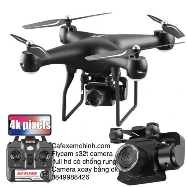 Flycam s32t camera xoay 1080p ,pin 2000mah bay 22p