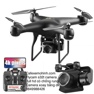 Flycam s32t camera xoay 1080p ,pin 2000mah bay 22p