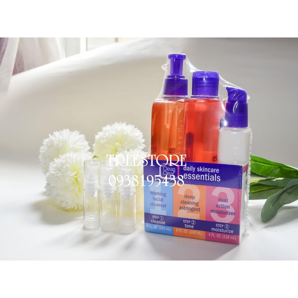 [ BILL MỸ ] [Chỉ còn chiết] Bộ Chăm sóc da 3 bước - Clean & Clear Essentials Daily Skincare - 2445310 , 255824712 , 322_255824712 , 80000 , -BILL-MY-Chi-con-chiet-Bo-Cham-soc-da-3-buoc-Clean-Clear-Essentials-Daily-Skincare-322_255824712 , shopee.vn , [ BILL MỸ ] [Chỉ còn chiết] Bộ Chăm sóc da 3 bước - Clean & Clear Essentials Daily Skincare