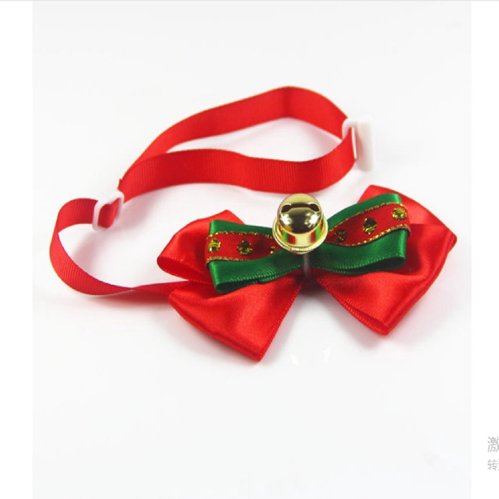 ^SD^ Collar Tie Christmas Pet Hat Scarf Suit With Pet Socks Pet Bow Tie Dress