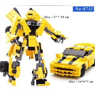 [NhậpTOYHANHPHUC Giảm 15%] Đồ chơi lắp ghép trẻ em – Bộ Robot biến hình thành xe oto -LEGOSTYLE