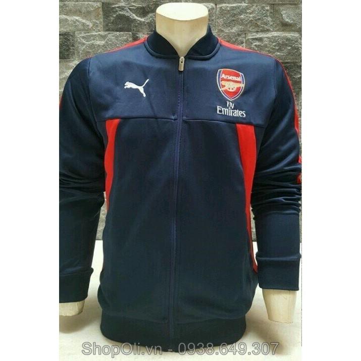 Áo khoác bóng đá clb Arsenal cao cấp chuẩn form châu âu