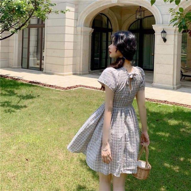 Váy caro order Quảng Châu