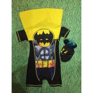 (xả) (thanh lý) Bộ bơi bé trai 3 chi tiết hình batman (Sz: 90 – 130)