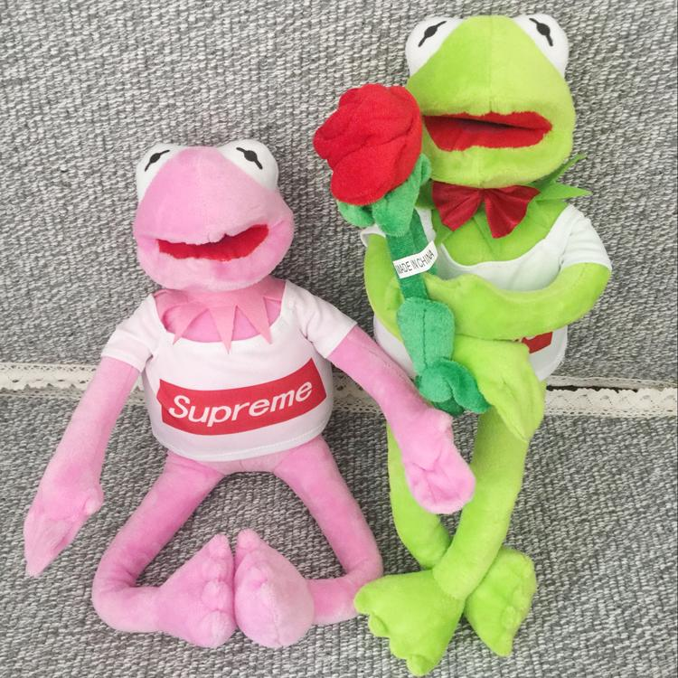 ₪✿▫Sesame Street Frog Doll Supreme Cormit dolls dress concave styling expression bag Funny Gift