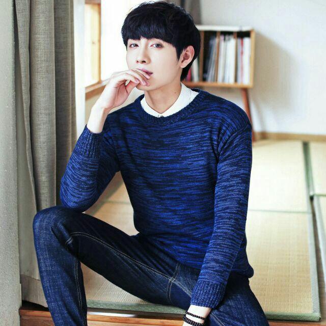 Áo len nam phong cách Hàn Quốc thanh lịch - Áo len cổ tròn Áo len nam phong cách Hàn Quốc thanh lịch hàng có sẵn