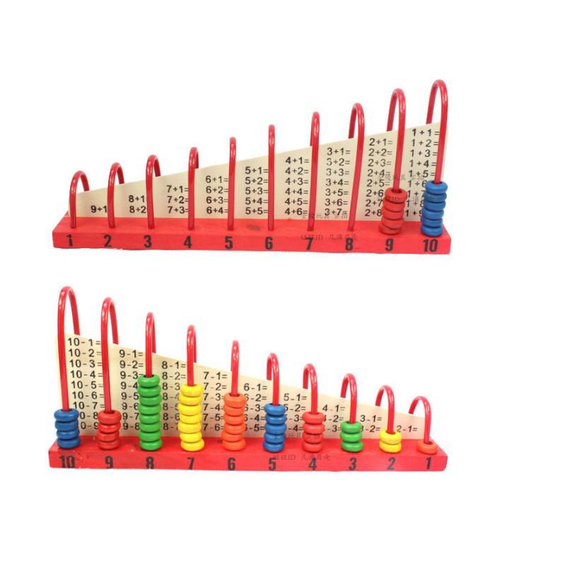 [ HOT DEAL ] Đồ chơi bàn tính gỗ học đếm - bảng tính cầu vồng cho bé