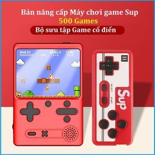 Máy chơi game cầm tay,điện tử 4 nút chơi gameboy,sup,nitendo,mario,nes và console có thể chơi 2 người kết nối với TV thumbnail