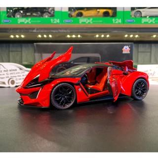 Xe mô hình siêu xe Lykan Hypersport tỉ lệ 1:24 hãng HengTeng màu đỏ