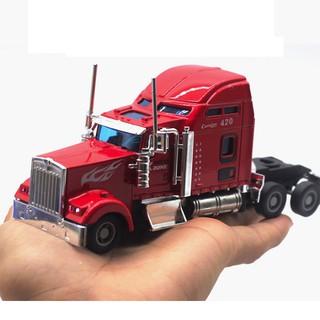 Mô hình đầu xe kéo tỉ lệ 1:42 bằng sắt có âm thanh và đèn đồ chơi trẻ em