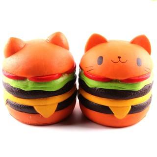 Jumbo Squishy burger Cat Toys