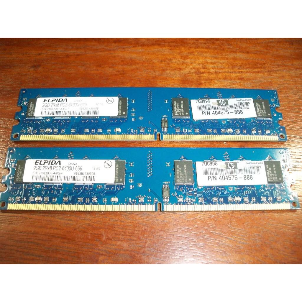 Ram Máy Tính DDR2 2GB Bus 667/800Mhz - Hàng nhập khẩu