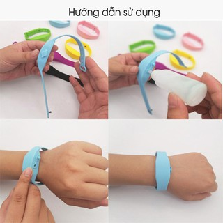 Vòng đeo tay đựng dung dịch sát khuẩn, vòng tay giúp rửa tay nhanh Giadungbpm 3
