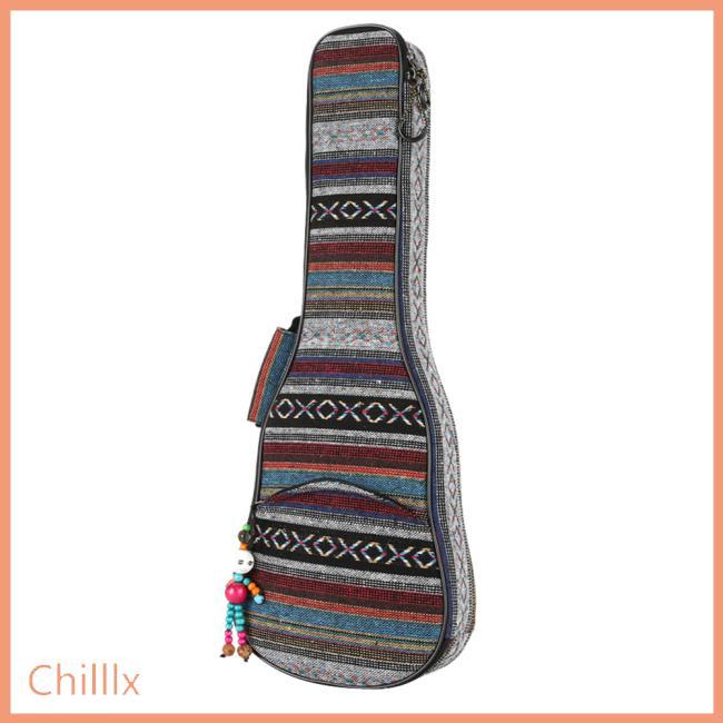 21 23 26 Inch National Style Canvas Ukulele Carry Bag Cotton Padded Double Strap Case for Ukulele Guitar
