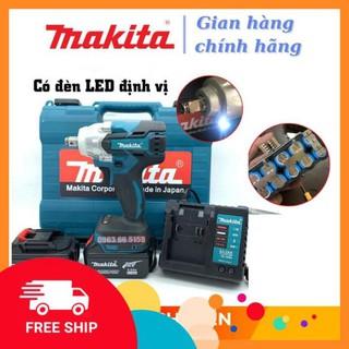 [Chính Hãng] Máy siết bulong Makita 72v, 2 pin, đầu 2 trong 1, 100% dây đồng, không chổi than, tặng đầu khoan -Xịn